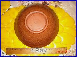 Vtg Studio Pottery Abstract Atomic Funky Arts Centerpiece Fruit Snack Treat Bowl