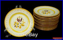 VTG Stangl Pottery Provincial Fall Gold Plate Bread Bowl Soup Dessert Cup Saucer