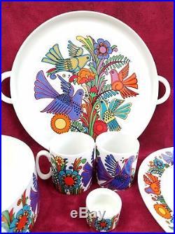 VTG Villeroy & Boch Acapulco Dish Set Mid Century Serving Tray Bowl ...