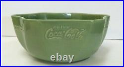 Vernon Kilns Coca Cola pottery bowl 1950s vintage advertising RARE