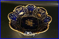 Vintag Reichenbach German Echt Kobalt Fine China Cobalt Blue Gold 11 Bowl Dish