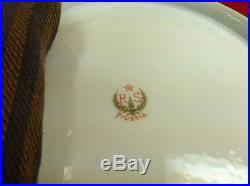Vintage 11 RS Prussia Embossed Porcelain Gold Gilt Bowl Nature Duck Rooster Hen