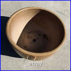 Vintage 1930's Red Wing Pottery Glazed Indian Bowl Drilled Planter Pot Bauer 12