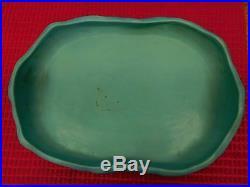 Vintage 1930's Van Briggle Pottery Maiden Flower Frog And Large Oval Bowl