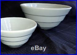 Vintage 1930s Bauer Pottery Ceramic Original Nesting Mixing Bowl Set