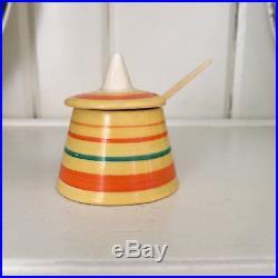 Vintage 1930s Clarice Cliff Sugar Bowl Bizarre Deco Cone Shape Wilkinson England