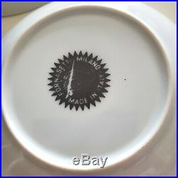 Vintage 1950-60's Piero Fornasetti Tema E Variazioni Porcelain Pair of Bowls