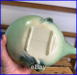 Vintage 1950's Parchment Pine Hull Art Pottery Tea Set Teapot Creamer Sugar Bowl