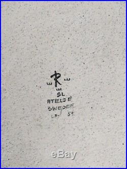 Vintage 1959 Signed SYLVIA LEUCHOVIUS Rörstrand Wall Plate + Thalia Vase Bowl