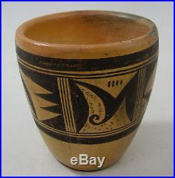 Vintage 4 1/4 Nellie Nampeyo Signed Antique Hopi Pottery Bowl