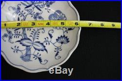 Vintage 9 Pc. Zwiebelmuster Bohemia Genuine Onion Pattern Czechoslovakia Bowls