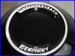 Vintage 9 Piece Waechtersbach Fun Factory Black Serving Cereal Bowl Set Germany