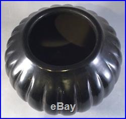 Vintage ANGELA BACA (1927-2014) Melon Pottery Bowl Vessel Santa Clara Pueblo