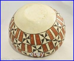 Vintage Acoma Pottery Bowl c. 1940 4 1/4 x 8 1/4
