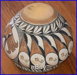 Vintage Acoma Pueblo Parrot Bowl Large Olla/nr
