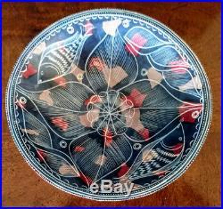 Vintage African Kenya Hand Formed Etched Soapstone Bowl, Amazing Rarer Design