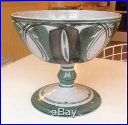 Vintage Alan Caiger-smith Aldermaston Pottery Pedestal Bowl 7.5in Ht. 8in Diam