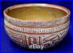 Vintage Antique Circa 400-600BC Mexico Nayarite Shallow Bowl Pottery