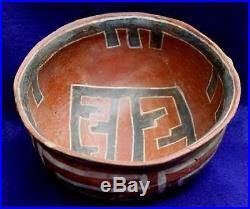 Vintage Antique Circa 800-1200AD Arizona. Anasazi, Polychrome Bowl Pottery