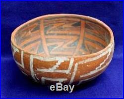 Vintage Antique Circa 800-1200AD Arizona. Anasazi Polychrome Bowl Pottery