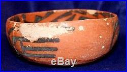 Vintage Antique Circa 800-1200 AD Arizona Anasazi Indian 4-Mile Bowl Pottery