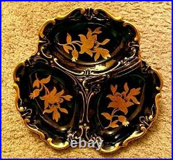 Vintage/Antique Jlmenau Graf Von Henneberg Echt Kobalt Cobalt Blue Dish