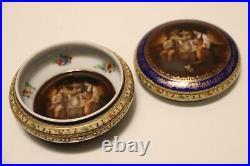 Vintage Antique Porcelain Bowl Trinket Box Carlsbad FSC c. 1910, Czechoslovakia