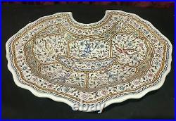 Vintage Antique Portugal Faience Conimbriga Art Pottery Wash Bowl