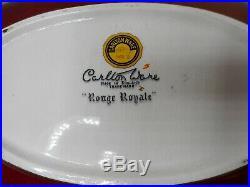 Vintage Art Deco English Carlton Ware Rouge Royale Handpainted Bird Bowl Dish