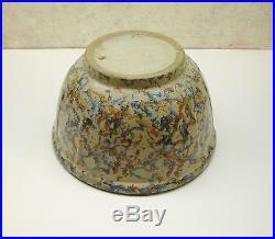 Vintage Art Pottery Red Wing Ribbed Sponge Ware Mixing Crock Jug Bowl 81/4 VgC