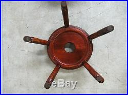 Vintage Asian Pottery Fish Bowl Stand Lamp End Table Pedestal A