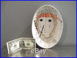 Vintage BJORN WIINBLAD Art Pottery Bowl Plate Denmark Danmark