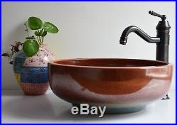 Vintage Bathroom Cloakroom Ceramic Counter Top Wash Basin Sink Washing Bowl