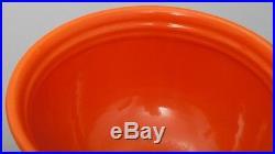 Vintage Bauer Mixing Bowl #12 Large Ringware Orange California Pottery Signed
