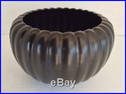 Vintage Bauer Pottery Pumpkin Bowl