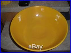 Vintage Bauer Pottery Ringware Chinese Yellow Pedestal Bowl-Restored