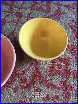 Vintage Bauer Pottery Ringware Design Nesting Mixing Bowls Complete Set of 5