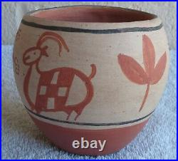 Vintage Beautiful Santo Domingo Pottery Bowl by Paulita Pacheco