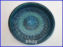 Vintage Bitossi Bowl Aldo Londi Blue Mid Century Modern 1960's