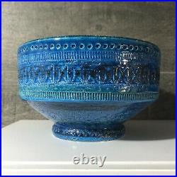 Vintage Bitossi Italian Pottery Italy Ceramic Footed Bowl