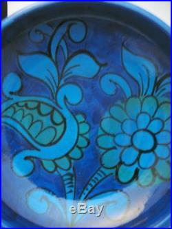 Vintage Bitossi Italian Pottery Rimini Blue Large Ashtray / Bowl MID Century Mod