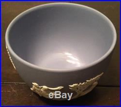 Vintage Blue Wedgwood Jasperware Tea Set Creamer Sugar Bowl Cups Plates Tea Pot
