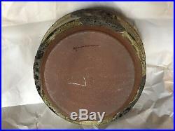 Vintage Brutalist Edna Arnow Chicago Studio Pottery 10.5 Lidded Casserole Bowl