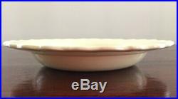Vintage CREAMWARE Feather Edge Bowls Reproduction 18th C NY Artist D Carpentier