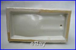 Vintage Camark Pottery Rare Crane Egret Heron Bird Fish Bowl Holder EXCELLENT