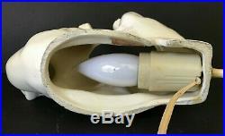 Vintage Camark White Polar Bear Fish Bowl Lamp Night Light