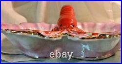 Vintage Carl Tielsch Porcelain Lobster German Divided Lobster Dish