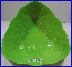 Vintage Carlton Ware Banana & Cabbage Leaf Serving Bowl / Fruit Bowl