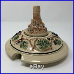 Vintage Castles On The Rhine German Punch Wine Bowl Tureen With 8 Stein