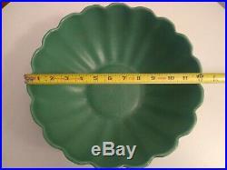 Vintage Catalina Island 12 Green Scallop Bowl